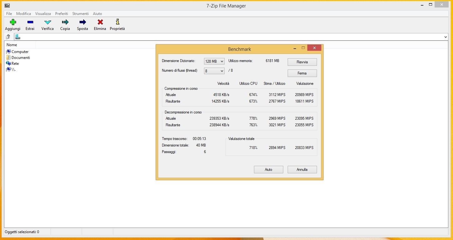 7 Zip Benchmark 128MB