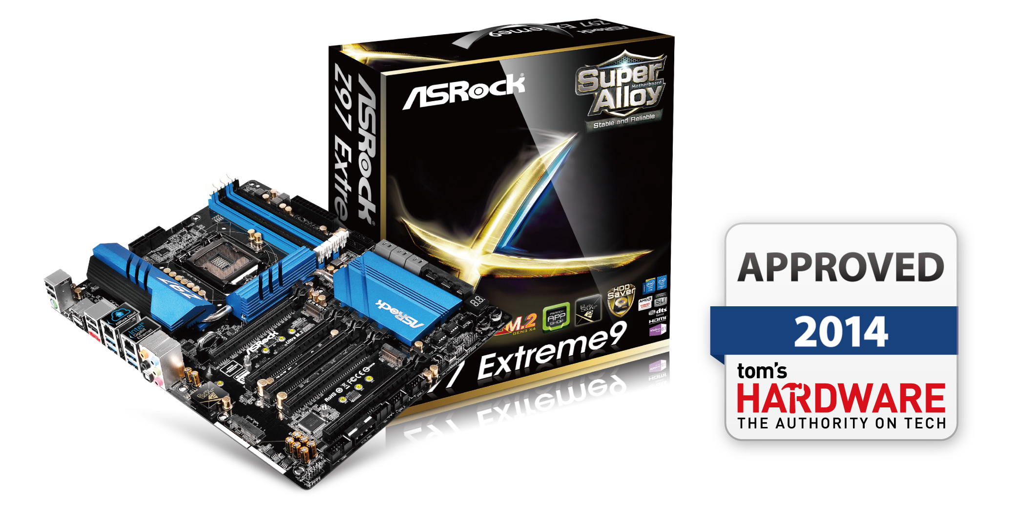 ASRock Z97 Extreme9 Gets Tom's Hardware 2014 Approved