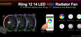 Thermaltake ha introdotto tecnologie IoT nella nuova Riing rgb mobile app per le nuove Riing rgb radiator fan tt premium series