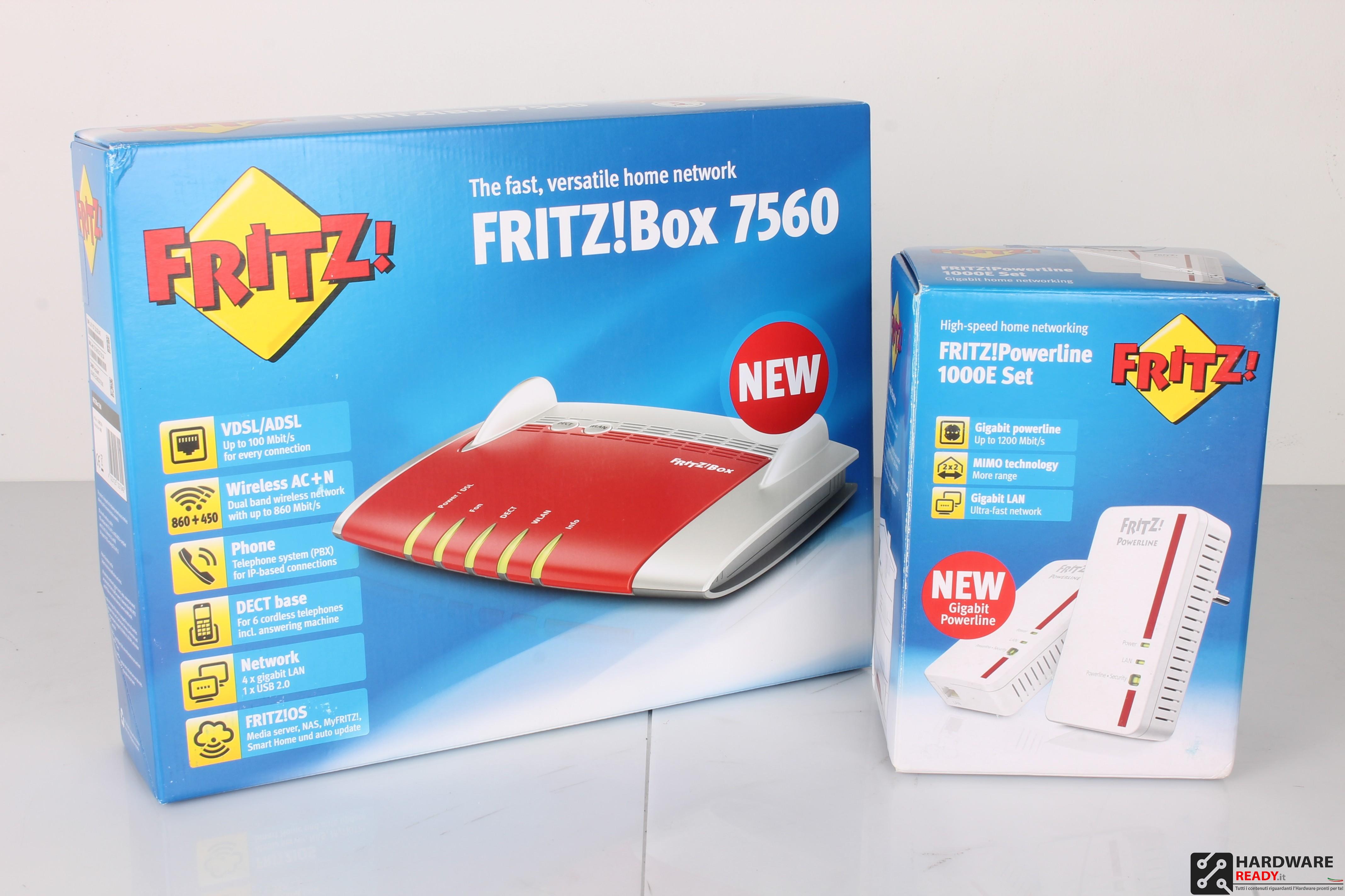 fritz box 7560 recensione hardware ready. Black Bedroom Furniture Sets. Home Design Ideas