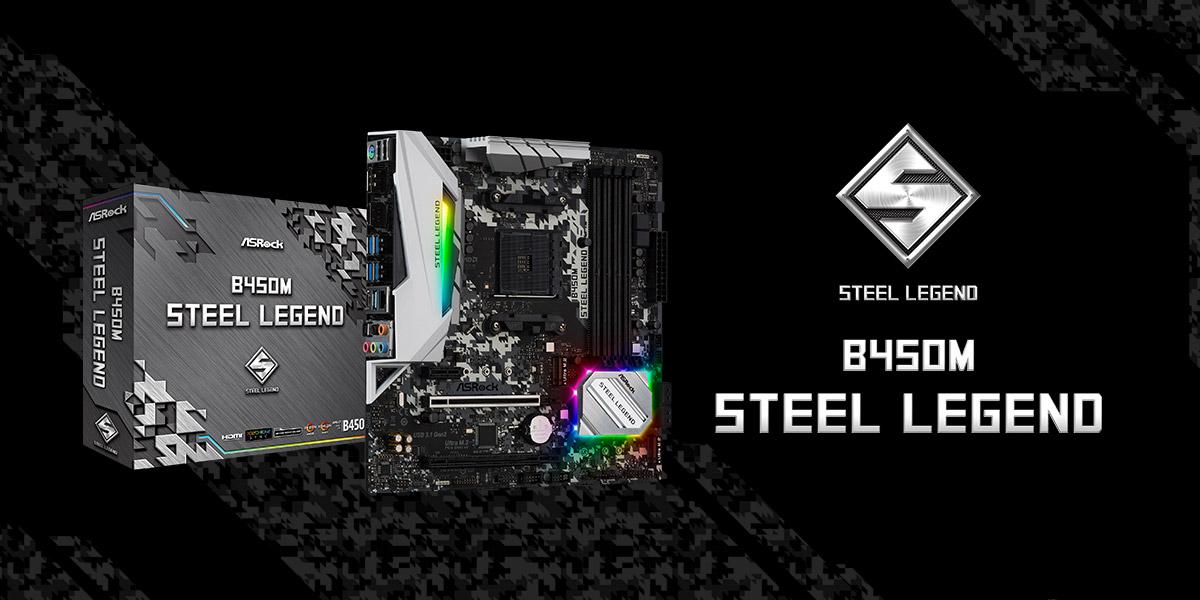 Nuove ASRock B450 Steel Legend - Hardware Ready
